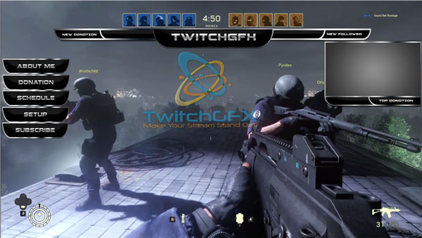 Rainbow Six Siege Twitch Overlay Pack