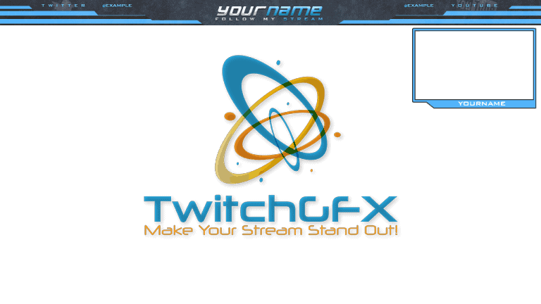 Grey Blue Free Twitch Overlay