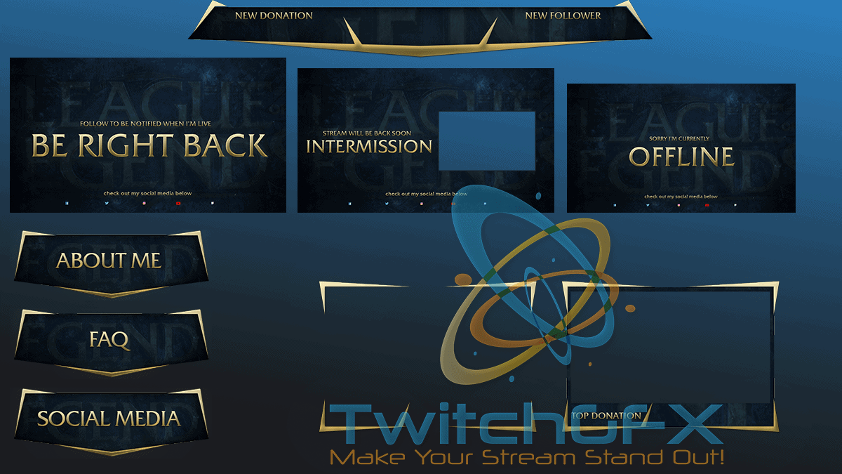 LoL Twitch Stream Overlay Bundle